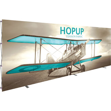 Hop Up™ 8×3 Straight Pop Up Display with Front Graphic