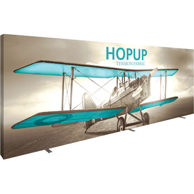 Hop Up™ 8×3 Straight Pop Up Display with Full Fitted Graphic