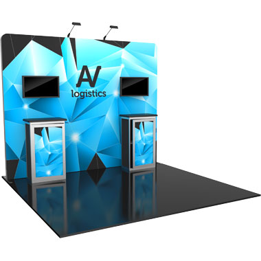 Hybrid Pro™ Modular 10′ Trade Show Exhibit Backwall • Kit 06
