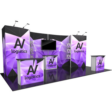 Hybrid Pro™ Modular 10′ Trade Show Exhibit Backwall • Kit 10