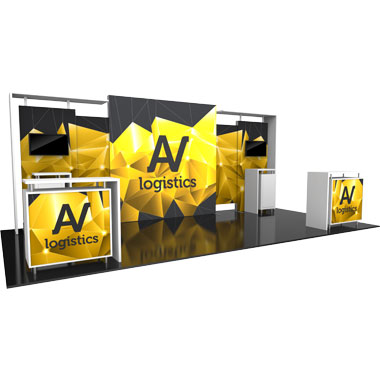 Hybrid Pro™ Modular 10′ Trade Show Exhibit Backwall • Kit 11