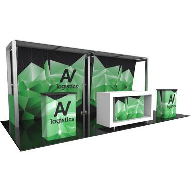 Hybrid Pro™ Modular 10′ Trade Show Exhibit Backwall • Kit 12