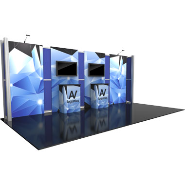 Hybrid Pro™ Modular 10′ Trade Show Exhibit Backwall • Kit 13