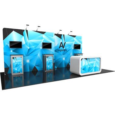 Hybrid Pro™ Modular 20′ Trade Show Exhibit Backwall • Kit 14