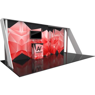 Hybrid Pro™ Modular 20′ Trade Show Exhibit Backwall • Kit 15
