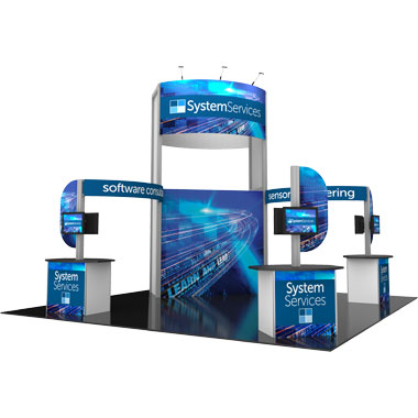 Hybrid Pro™ Modular 10′ Trade Show Island Exhibit • Kit 17