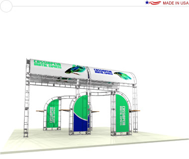 Cassiopeia 20′ × 20′ Trade Show Island Booth