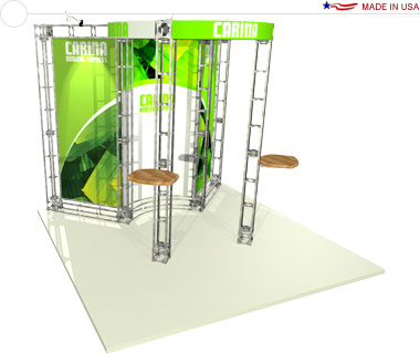 Carina 10′ × 10′ Trade Show Booth