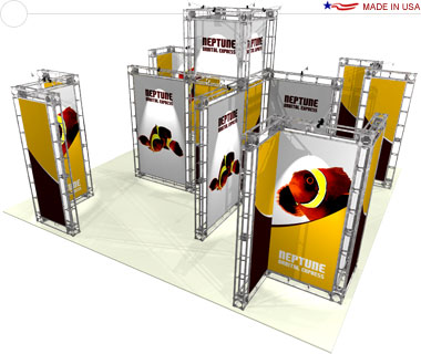 Neptune 20′ × 20′ Trade Show Island Booth