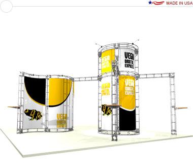 Vega 20′ × 20′ Trade Show Island Booth