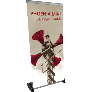 Phoenix™ Mini Banner Stand w/ 15.5″ × 31.5″ Graphic (2-Pole Hardware Height)