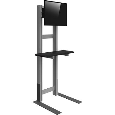 Background Monitor Kiosk w/ Shelf