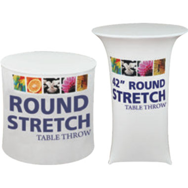 Premium Dye-Sub 30″-Wide Round Table Throw