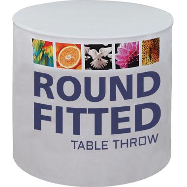 Premium Dye-Sub 60″-Wide Round Table Throw