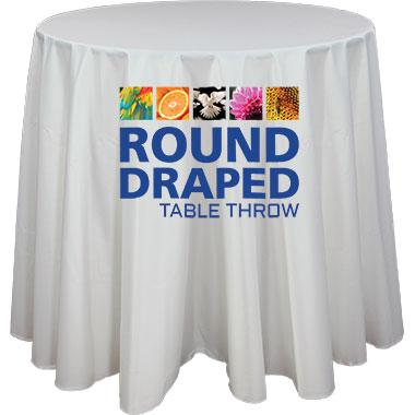 Premium Dye-Sub 48″-Wide Round Table Throw