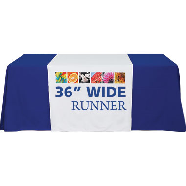 Premium Dye-Sub Table Runner · 36″-Wide