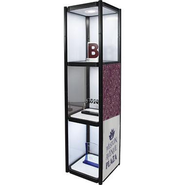 Twist™ 3 Portable Display Cabinet w/ Optional Graphics