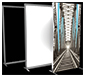 Vector Frame™ Light Box · Exploded Left Angle View