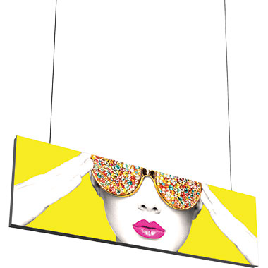Vector Frame™ Hanging Light Box 10′ × 3′