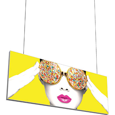 Vector Frame™ Hanging Light Box 10′ × 4′