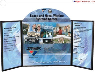 Voyager Maxi™ Briefcase Tabletop Display w/ Graphics