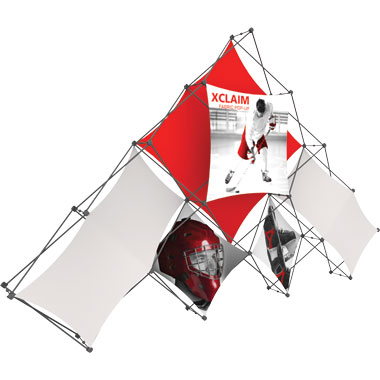 Xclaim™ Fabric Popup Display • 10 Quad Pyramid Kit 01