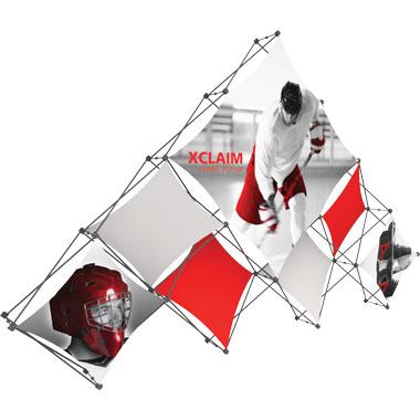 Xclaim™ Fabric Popup Display • 10 Quad Pyramid Kit 03