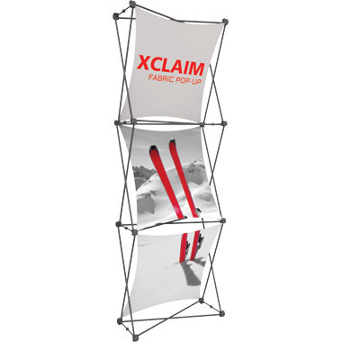 Xclaim™ Fabric Popup Display • 1×3 Kit 01