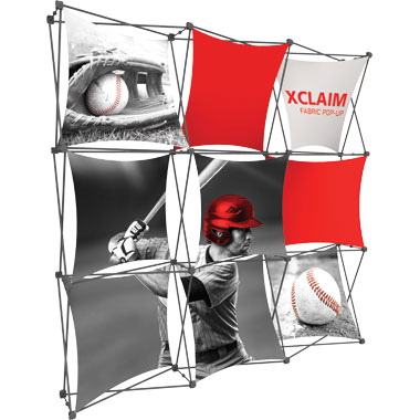 Xclaim™ Fabric Popup Display • 3×3 Kit 01