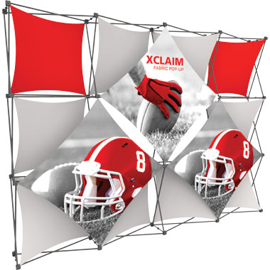 Xclaim™ Fabric Popup Display • 4×3 Kit 05