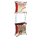 Xclaim™ Fabric Popup Display • 1×3 Kit 03 - Left Angle View w/ Optional Shelf (sold separately)
