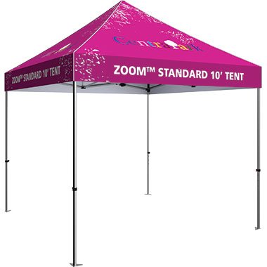 Zoom™ Standard 10′ Popup Tent With Printed Canopy