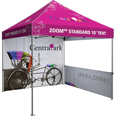 Zoom™ 10′ Tent Full Wall · Custom Printed