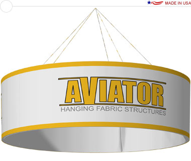 Aviator™ Hanging Banner Sign · 10′ × 42″ Circle