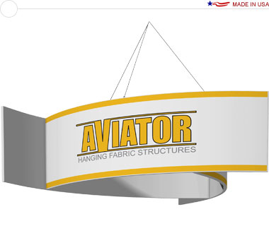 Aviator™ Hanging Banner Sign · 12′ × 48″ Pinwheel