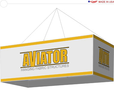 Aviator™ Hanging Banner Sign · 10′ × 5′ × 42″ Rectangle