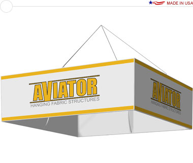 Aviator™ Hanging Banner Sign · 10′ × 42″ Square