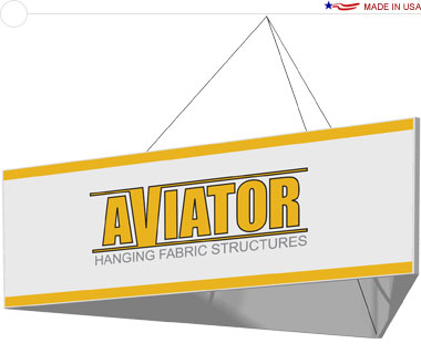 Aviator™ Hanging Banner Sign · 10′ × 36″ Triangle