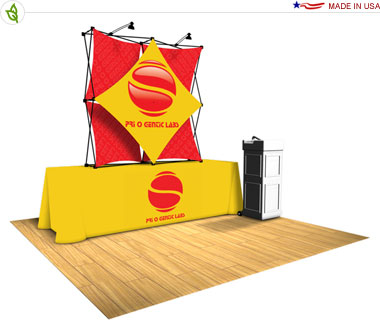 Xpressions Snap!™ Tension Fabric Pop Up Tabletop Display · Kit 2x2 A