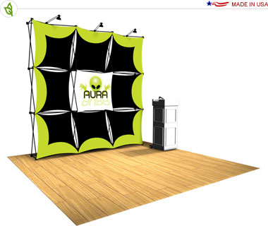 Xpressions Snap!™ Tension Fabric Pop Up Display · Kit 3x3 Q