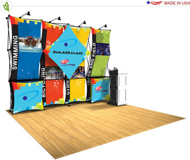 Xpressions Snap!™ Tension Fabric Pop Up Display · Kit 4x3 B