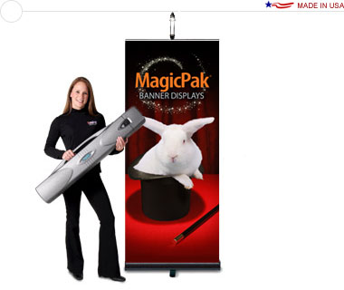MagicPak® Retractable Banner Display — Light & Case Combo Kit