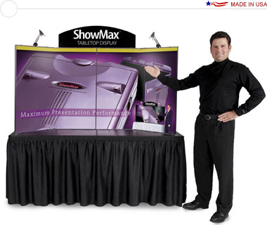 ShowMax® Tabletop Display Graphic Package