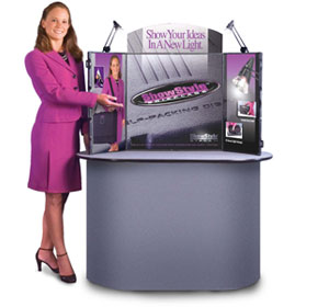ShowStyle® Briefcase Display with Lights, Bag & Graphics