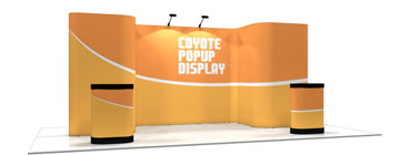 Coyote™ • 17′ Horseshoe Pop Up Display