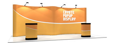 Coyote™ • 20′ Gullwing Pop Up Display