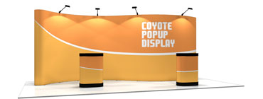 Coyote™ • 20′ Serpentine Pop Up Display
