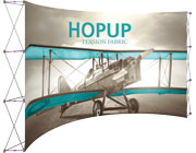 Hop Up™ • 6×3 Curved Pop Up Display