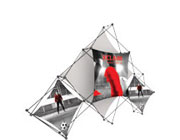 Xclaim™ Fabric Popup Display • 6 Quad Pyramid Kit 02