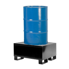 9001-BD - 1-Drum Steel Spill Pallet - Black Diamond